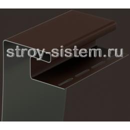 Околооконный профиль для сайдинга под камень Bergart шоколад 3600 мм