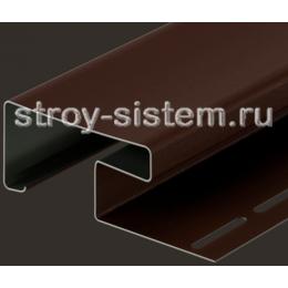 Наличник 89 мм для сайдинга под камень Bergart шоколад 3600 мм