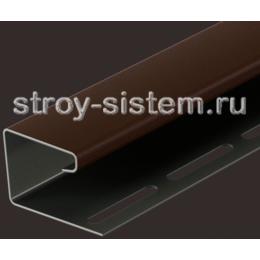 J-профиль для сайдинга под камень Bergart шоколад 3000 мм