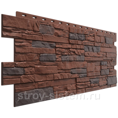 Панель фасадная Docke Stein Камень Темный орех 1098х400 мм