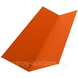 Ендова нижняя 298х298х2000 мм RAL 2004 оранжевый