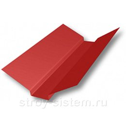 Ендова верхняя 76х76х2000 мм RAL 3003 рубиново-красный
