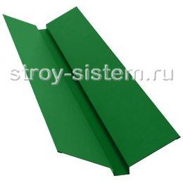 Ендова верхняя 76х76х2000 мм RAL 6029 мятно-зелёный