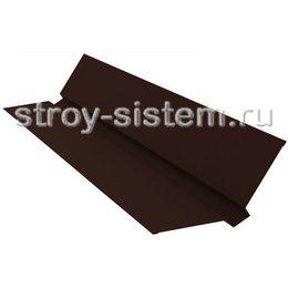 Ендова верхняя 76х76х2000 мм матовый RAL 8017 шоколадно-коричневый