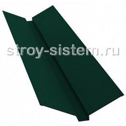 Ендова верхняя 76х76х2000 мм матовый RAL 6005 зелёный мох