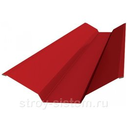 Ендова верхняя 76х76х2000 мм RAL 3011 коричнево-красный
