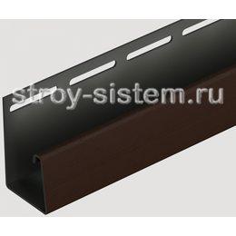 J-профиль для фасадных панелей Docke шоколадный 3000 мм