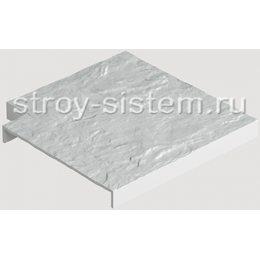 Угловая насадка для бордюра фасадных панелей Docke белый 1000 мм