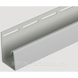 J-профиль для фасадных панелей Docke дымчатый 3000 мм