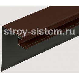 Околооконный профиль для фасадных панелей Docke шоколад 3600 мм