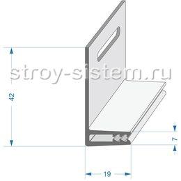 Базовая планка для фасадный панелей Docke металлическая 2000 мм