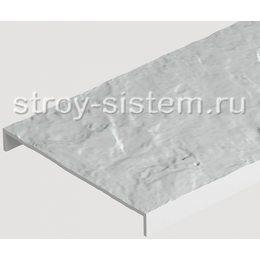 Бордюр универсальный для фасадных панелей Docke белый 1000 мм