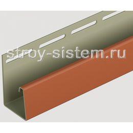 J-профиль для фасадных панелей Docke каштановый 3000 мм