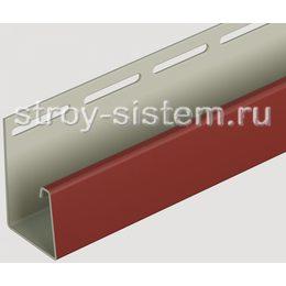 J-профиль для фасадных панелей Docke табачный 3000 мм