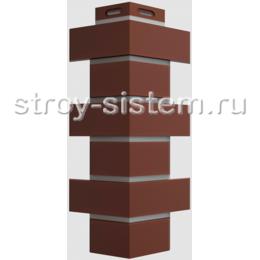 Угол наружный Docke Flemish Кирпич коричневый 420 мм
