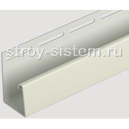 J-профиль для фасадных панелей Docke слоновая кость 3000 мм