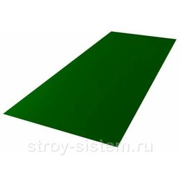 Плоский лист с полимерным покрытием 0,4 мм RAL 6002 лиственно-зелёный