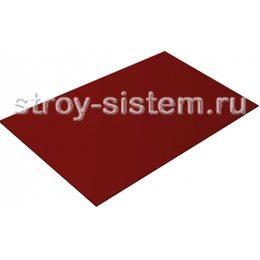 Плоский лист с полимерным покрытием 0,45 мм RAL 3005 двусторонний винно-красный