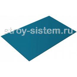 Плоский лист с полимерным покрытием 0,35 мм RAL 5021 водная синь