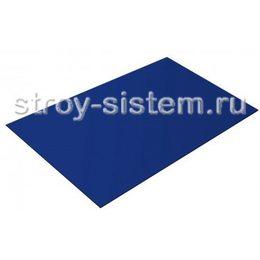 Плоский лист с полимерным покрытием 0,35 мм RAL 5002 ультрамариново-синий
