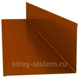 Планка примыкания верхняя 250х145х2000 мм RAL 2004 оранжевый