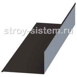 Планка примыкания верхняя 250х145х2000 мм матовый RAL 9005 черный