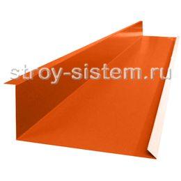 Планка примыкания нижняя 122х250х2000 мм RAL 2004 оранжевый
