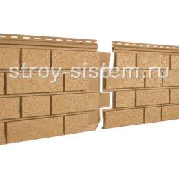 Фасадные панели Stone House S-Lock клинкер горчичный 1950х292 мм
