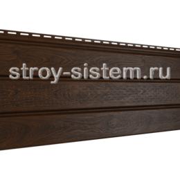 Софит PRO Ю-пласт с частичной перфорацией орех темный 3000x300 мм