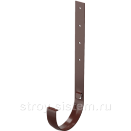 Кронштейн желоба Docke Standard D120 мм длинный металлический RAL 8019 Темно-коричневый