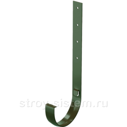 Кронштейн желоба Docke Standard D120 мм длинный металлический RAL 6005 Зеленый