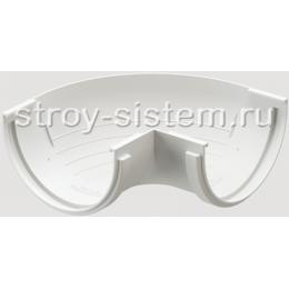 Угол желоба Docke Standard D120 мм 90 градусов RAL 9003 Белый