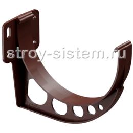 Кронштейн желоба Docke Standard D120 мм короткий RAL 8019 Темно-коричневый