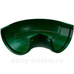 Угол желоба Docke Standard D120 мм 90 градусов RAL 6005 Зеленый