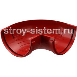 Угол желоба Docke Standard D120 мм 90 градусов RAL 3005 Красный
