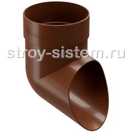Отвод трубы Docke Standard D80 мм RAL 8017 Светло-коричневый