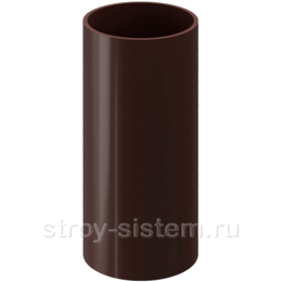 Труба водосточная Docke Standard D80х3000 мм RAL 8019 Темно-коричневый