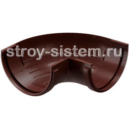Угол желоба Docke Standard D120 мм 90 градусов RAL 8019 Темно-коричневый
