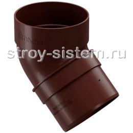 Колено трубы Docke Standard D80 мм 45 градусов RAL 8019 Темно-коричневый
