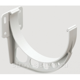 Кронштейн желоба Docke Standard D120 мм короткий RAL 9003 Белый
