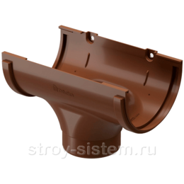 Воронка желоба Docke Standard D120/80 мм RAL 8017 Светло-коричневый