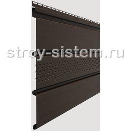 Софит Docke Standard Шоколад с центральной перфорацией 3050х305 мм виниловый