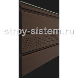 Софит Docke Т4 Каштан с центральной перфорацией 3050х305 мм виниловый