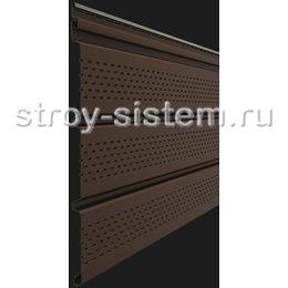 Софит Docke Т4 Каштан с полной перфорацией 3050х305 мм виниловый