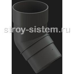 Колено трубы Docke Premium D85 мм 45 градусов RAL 7024 Графит