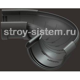 Угол регулируемый Docke Lux D141 мм 60-160 градусов RAL 7024 Графит