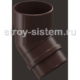 Колено трубы Docke Lux D100 мм 45 градусов RAL 8019 Шоколад