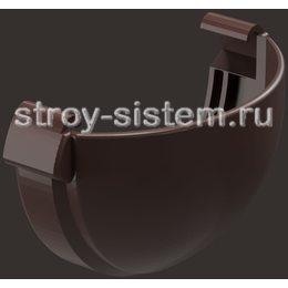 Заглушка желоба Docke Lux D141 мм с резиновым уплотнителем RAL 8019 Шоколад