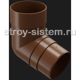 Колено трубы Docke Premium D85 мм 72 градуса RAL 8017 Каштан