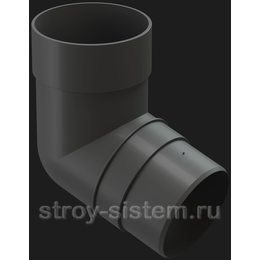 Колено трубы Docke Premium D85 мм 72 градуса RAL 7024 Графит